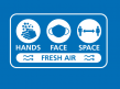 Graphic reminding people of the Hands, Face, Space, Fresh air message